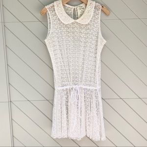 Free People Lace Collared Dress